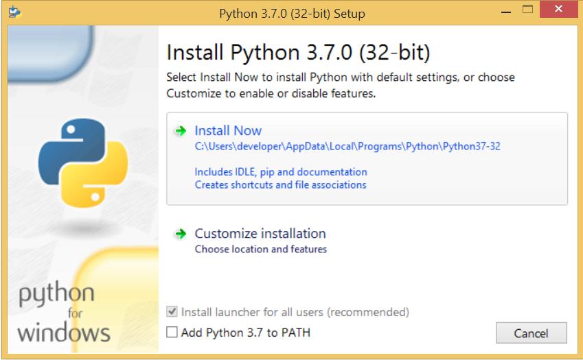install python.