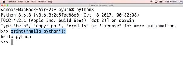 working on python's script mode