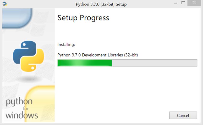 setup progress