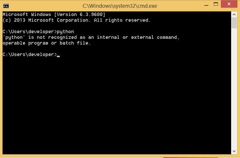 python command prompt